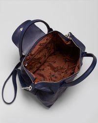Longchamp | Orange Satchel - Le Pliage Cuir Medium | Lyst