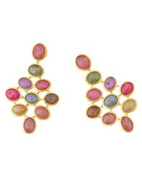 Marco Bicego | Multicolor 18k Yellow Gold Siviglia Sapphire Chandelier Earrings | Lyst