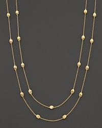"Marco Bicego - Metallic ""siviglia Collection"" Small Bead Extra Long Gold Necklace, 47.25"" - Lyst"
