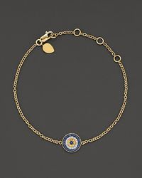 Meira T | . 14 Kt. Yellow Gold/diamond Evil Eye Bracelet | Lyst