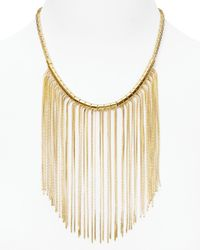 Michael Kors - Metallic Fringe Bib Necklace  - Lyst