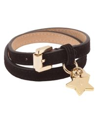 Mulberry | Metallic Double Wrap Star Charm Bracelet | Lyst