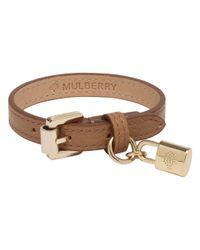 Mulberry - Brown Padlock Charm Bracelet - Lyst