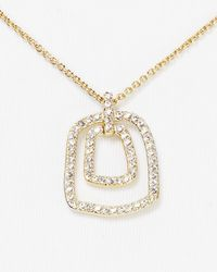 Nadri - Metallic Fine Pave Pendant Necklace 16 - Lyst