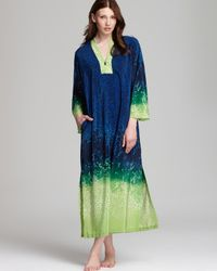 Oscar de la Renta | Green Jungle Impression Kaftan | Lyst
