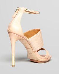 Rachel Roy - Natural Open Toe Sandals Pavla High Heel - Lyst