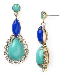 R.j. Graziano - Blue Multi Stone Drop Earrings - Lyst