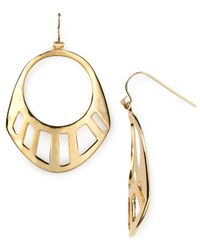 Robert Lee Morris | Metallic Sliced Gypsy Hoop Earrings | Lyst