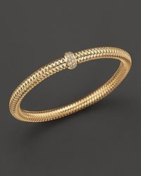 Roberto Coin - Yellow Gold Stretch Bracelet - Lyst