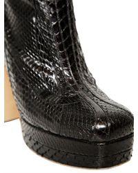 Rochas   Black 130mm Python Cobra Boots   Lyst