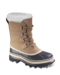 Sorel   Gray Caribou Snow Boots   Lyst
