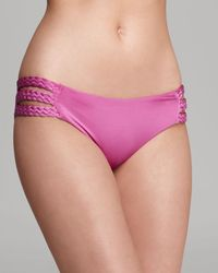 Vitamin A | Pink Chloe Triple Braid Bikini Bottom | Lyst