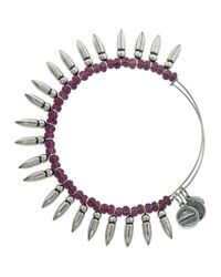 ALEX AND ANI | Purple Spike Of Confidence Bangle | Lyst