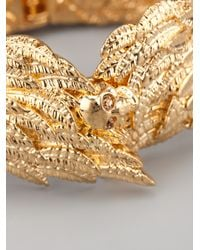 Alexander McQueen - Metallic Feather Bangle - Lyst