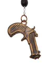 Alkemie | Metallic Peace Gun Rosary Necklace | Lyst