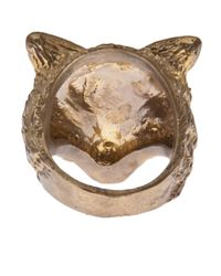 Alkemie - Metallic Wolf Ring - Lyst