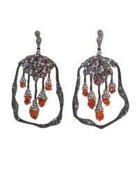 Arunashi - Black Opal Spinel Earrings - Lyst
