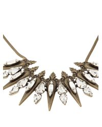 Auden - White Remy Spike Necklace - Lyst