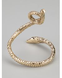 Aurelie Bidermann | Metallic Coiled Snake Cuff | Lyst