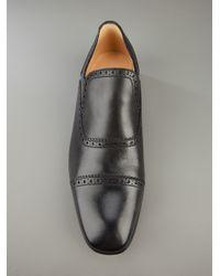 Bally - Black Brogue Loafer for Men - Lyst