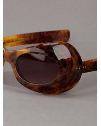 Blaak   Brown Goggle Shaped Sunglasses   Lyst