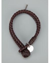 Bottega Veneta - Brown Woven Leather Bracelet for Men - Lyst