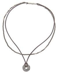 Bottega Veneta - Black Cord Necklace - Lyst