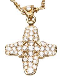 Brevard - Metallic Plus Sign Necklace - Lyst