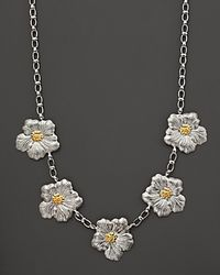 Buccellati | Metallic Blossom 5 Medium Flower Necklace with Gold Accents 21 | Lyst