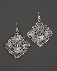 Buccellati | Metallic Vine Medium Drop Square Leaf Earrings | Lyst