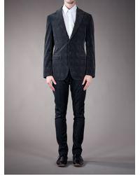 Burberry - Gray Checked Blazer for Men - Lyst