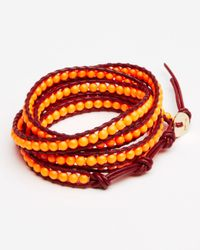 Chan Luu | Orange Five Wrap Leather Neon Bracelet | Lyst