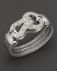 Charriol - Classique Collection 18k White Gold Diamond Ring - Lyst