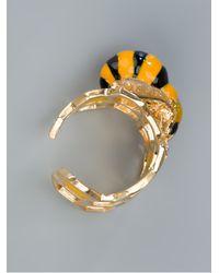 Delfina Delettrez - Metallic Honeycomb Ring - Lyst
