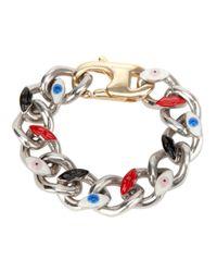 Delfina Delettrez | Metallic Anatomik Large Bracelet | Lyst