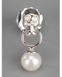 Delfina Delettrez | Metallic Skull Earrings | Lyst