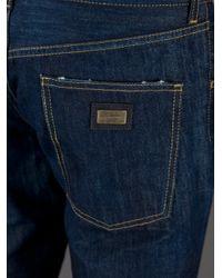 Dolce & Gabbana | Blue Slim Fit Jeans for Men | Lyst