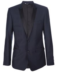 Dolce & Gabbana | Blue Suit with Contrast Piping for Men | Lyst