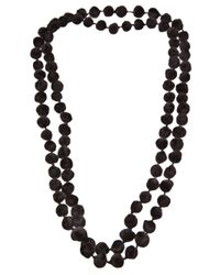 Dosa | Brown Knotted Channa Bead Necklace | Lyst