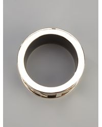 DSquared² - Black Engraved Logo Bracelet - Lyst