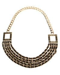 DSquared² | Metallic Leather Woven Necklace | Lyst