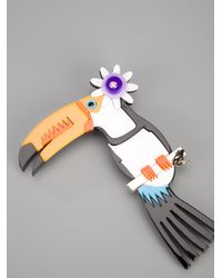 DSquared² - Multicolor Toucan Brooch - Lyst