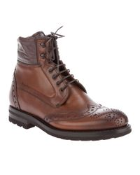Fabi | Brown Brogue Boot for Men | Lyst