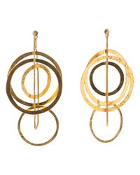 Herve Van Der Straeten | Metallic Circle Chain Earrings | Lyst