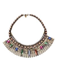 Iosselliani - Metallic Chunky Tube Necklace - Lyst