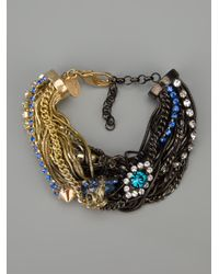 Iosselliani - Metallic Rams Head Crystal Tangled Bracelet - Lyst