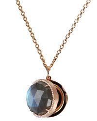 Irene Neuwirth   Metallic Locket Necklace   Lyst