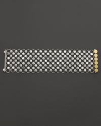 John Hardy - Metallic Dot 18K Gold And Silver Wide Link Bracelet - Lyst