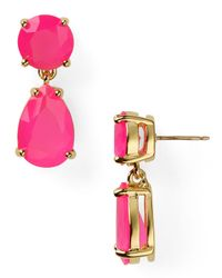kate spade new york - Pink Teardrop Earrings - Lyst