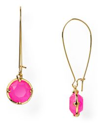 kate spade new york | Pink Long Drop Earrings | Lyst